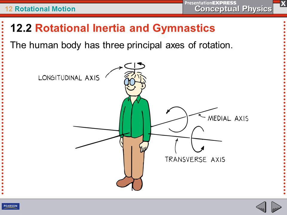12 Rotational Motion The human body has three principal axes of rotation. 12.2 Rotational Inertia and Gymnastics