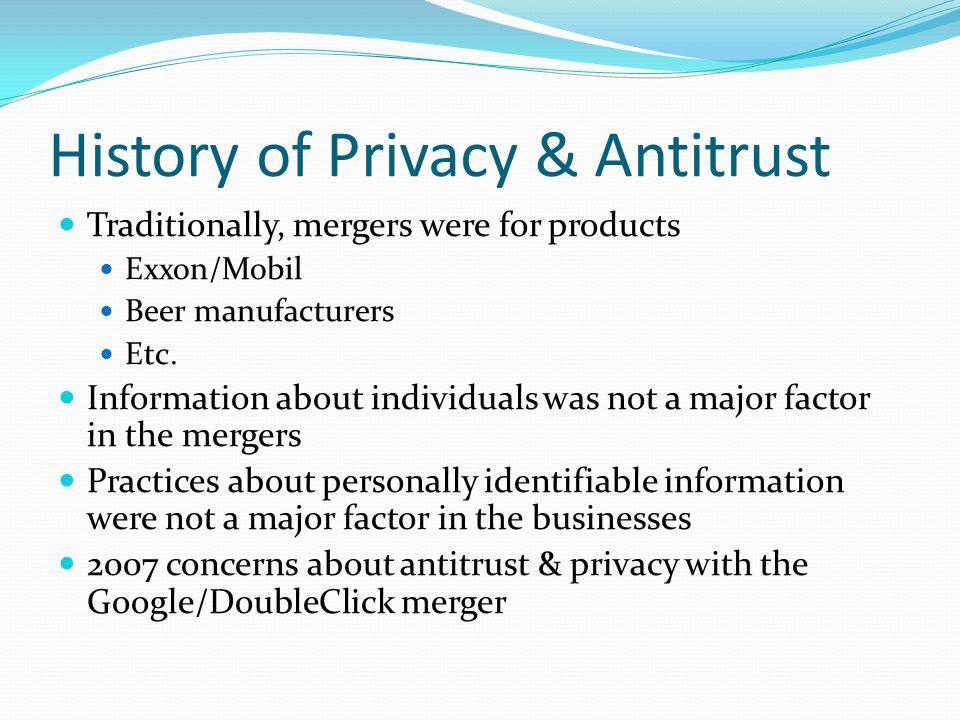 Other Views on Privacy & Antitrust U.S.