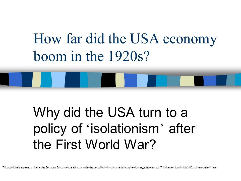 America and the War When war broke out, Woodrow Wilson was determined to keep America out of this war.