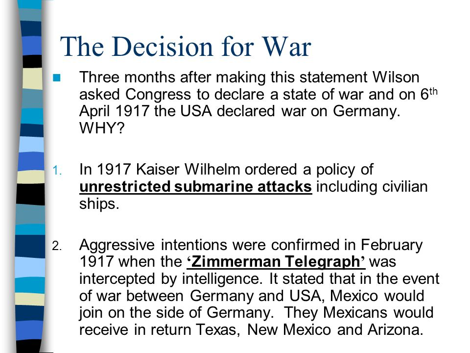 Impact of the War America sent 1 million US troops to the front line by November 1918.