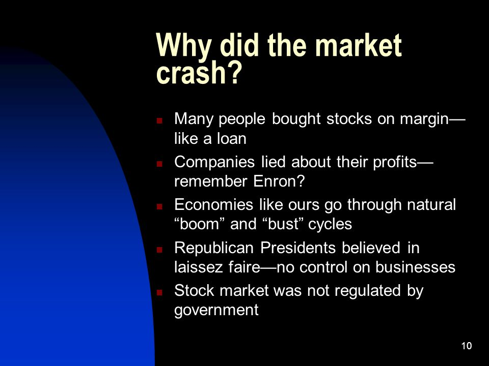 10 Why did the market crash.