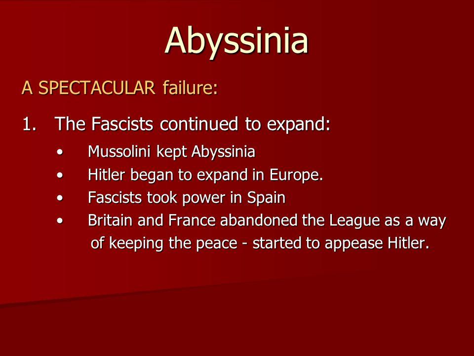 Abyssinia A SPECTACULAR failure: 2.