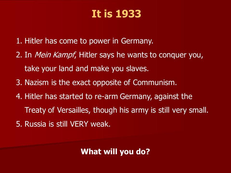 It is 1938 1.Hitlers power has grown.