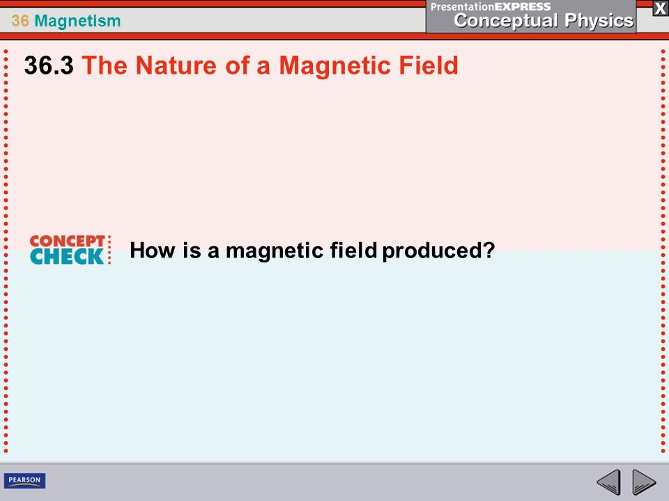 36 Magnetism How is a magnetic field produced? 36.3 The Nature of a Magnetic Field