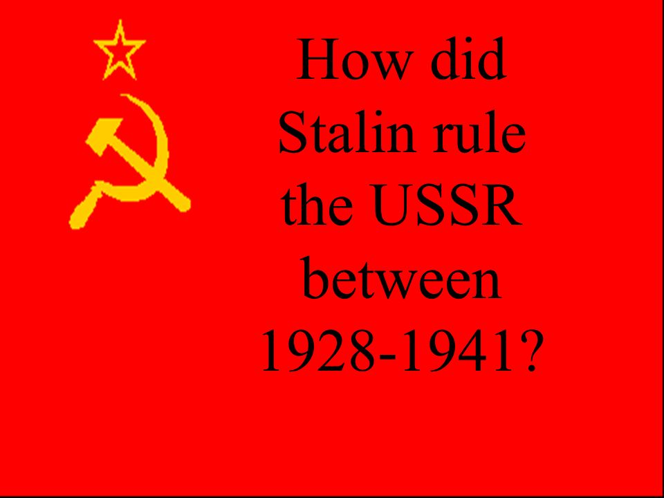 Who would succeed Lenin? Trotsky – Red Army Commander and Commisar of Foreign Affairs Stalin – Commisar for Nationalities OR