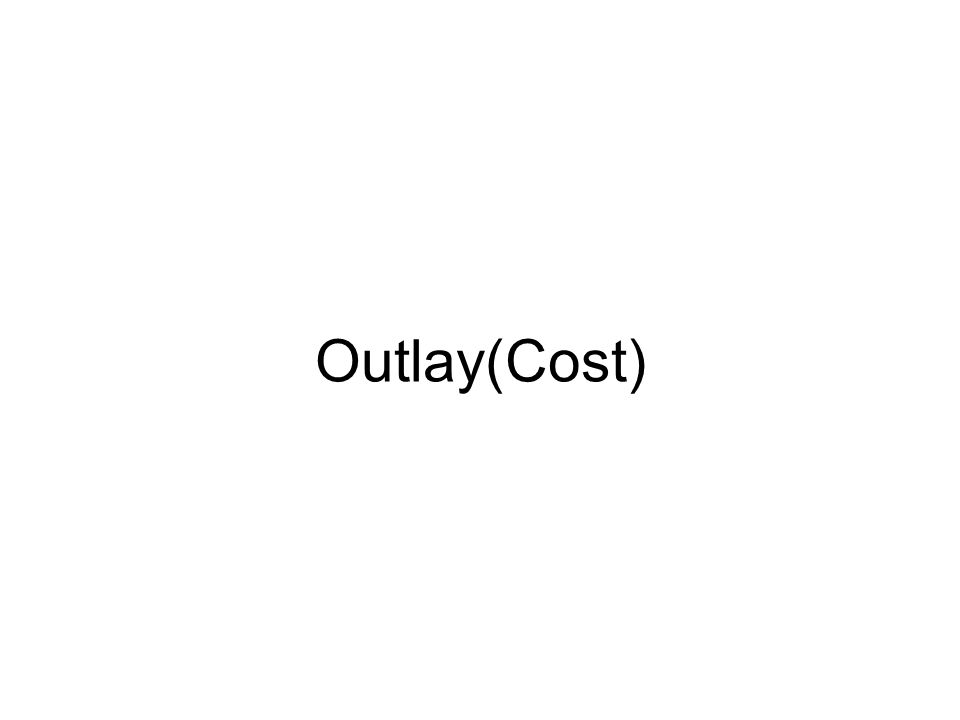 Outlay(Cost)