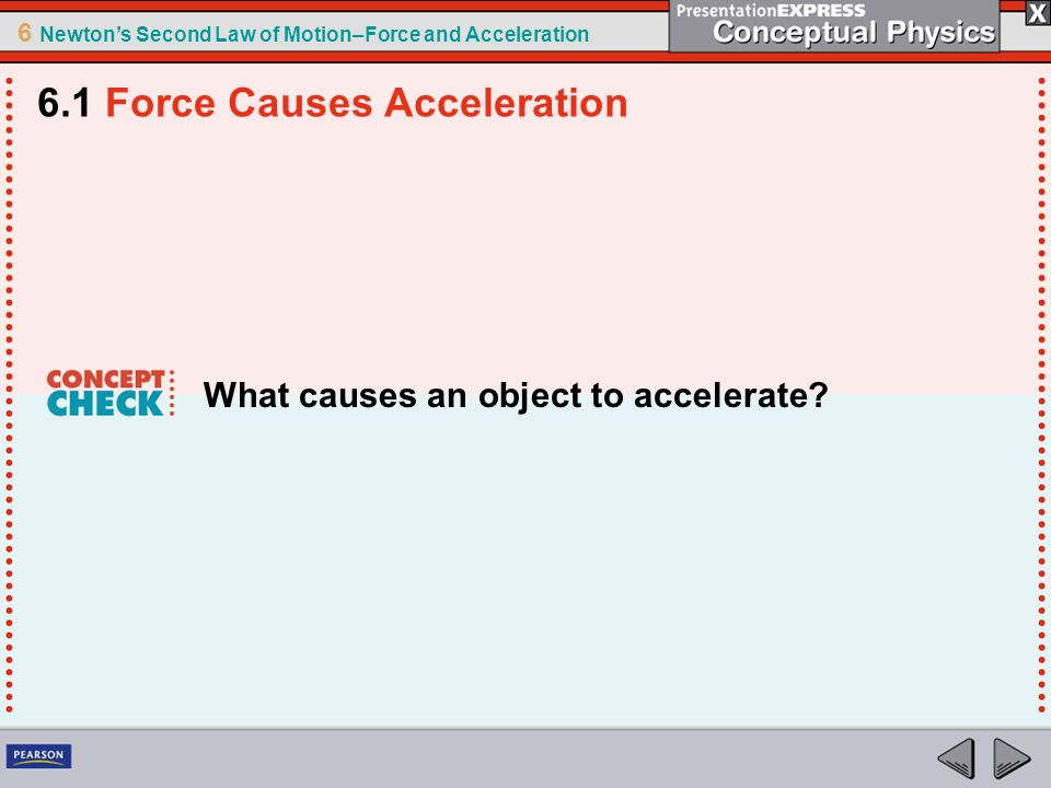 6 Newtons Second Law of Motion–Force and Acceleration Terminal Speed Terminal speed is the speed at which the acceleration of a falling object is zero because friction balances the weight.