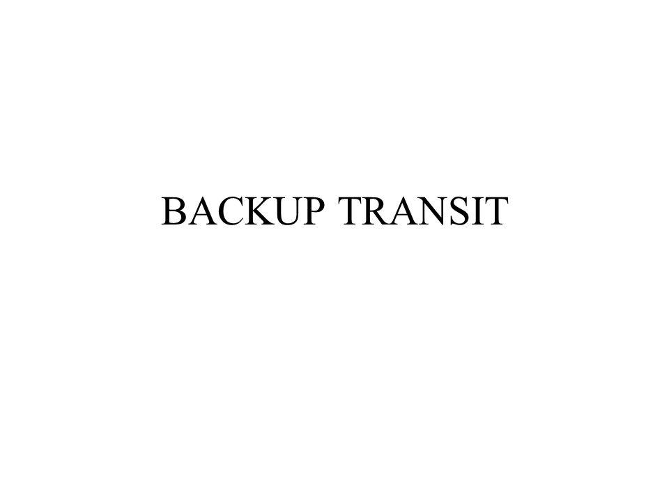 BACKUP TRANSIT