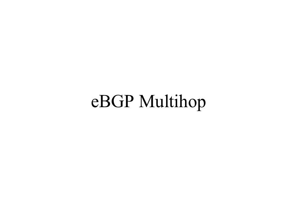 eBGP Multihop
