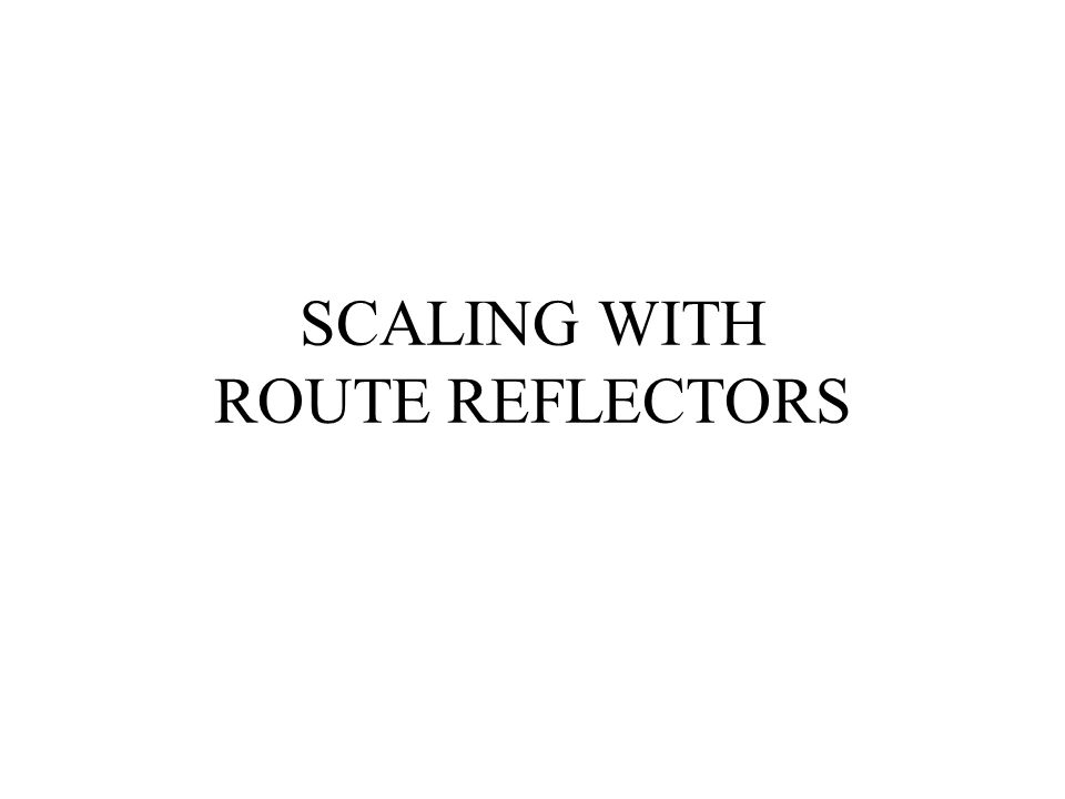SCALING WITH ROUTE REFLECTORS