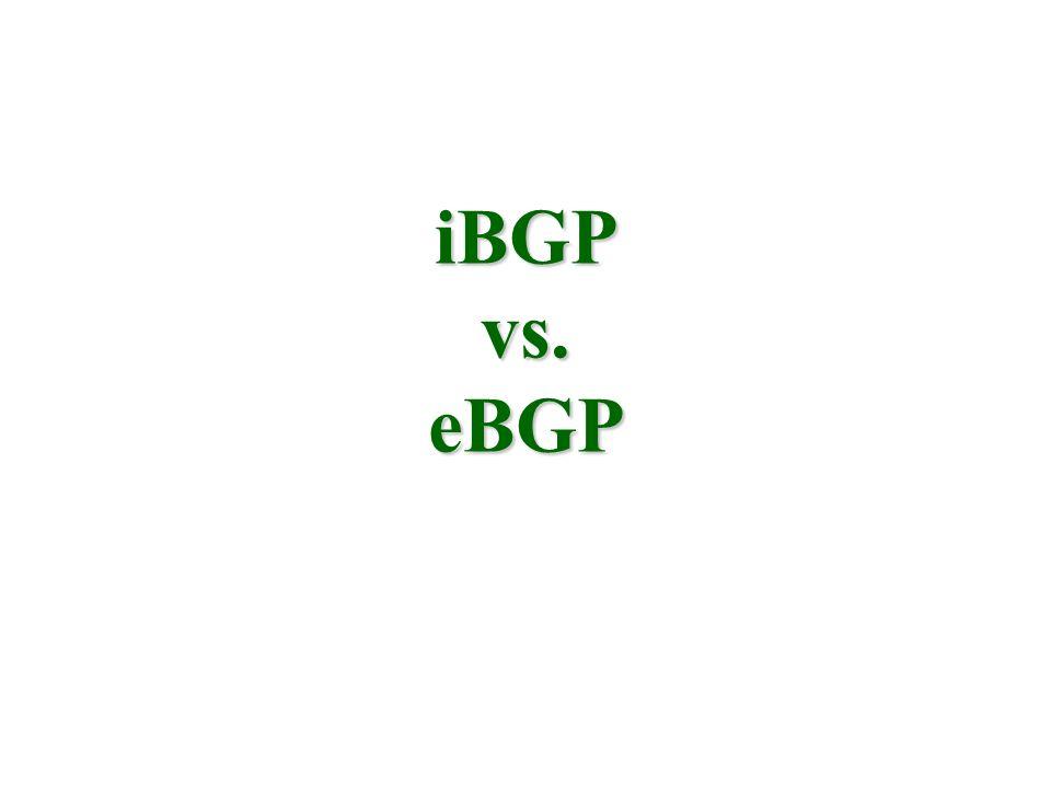 iBGP vs. eBGP
