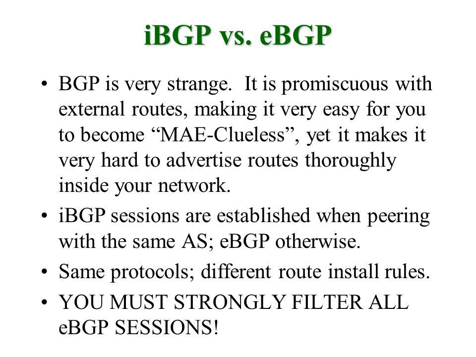 BGP is very strange.
