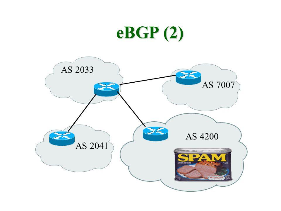eBGP (2) AS 2033 AS 4200 AS 7007 AS 2041