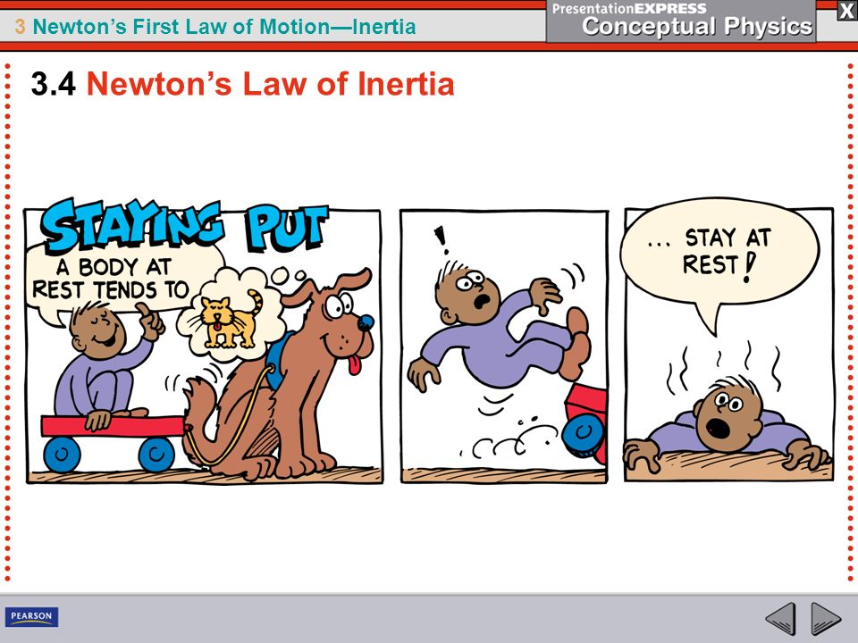 3 Newtons First Law of MotionInertia 3.4 Newtons Law of Inertia