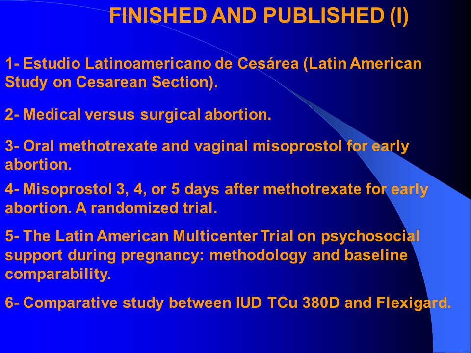 FINISHED AND PUBLISHED (II) 7- The WHO multicentre trial of the vasopressor effects of combined oral contraceptives.