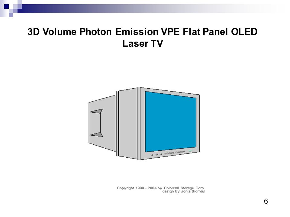 3D Volume Photon Emission VPE Flat Panel OLED Laser TV 6