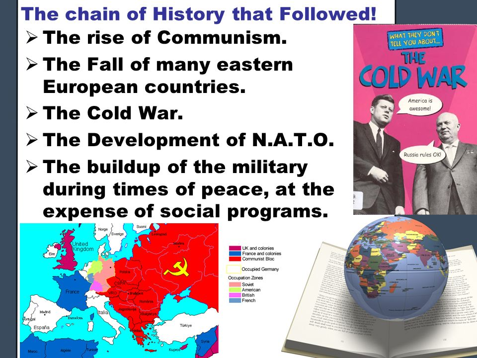 The chain of History that Followed! The rise of Communism. The Fall of many eastern European countries. The Cold War. The Development of N.A.T.O. The