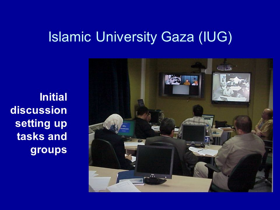 Islamic University Gaza (IUG) Initial discussion setting up tasks and groups
