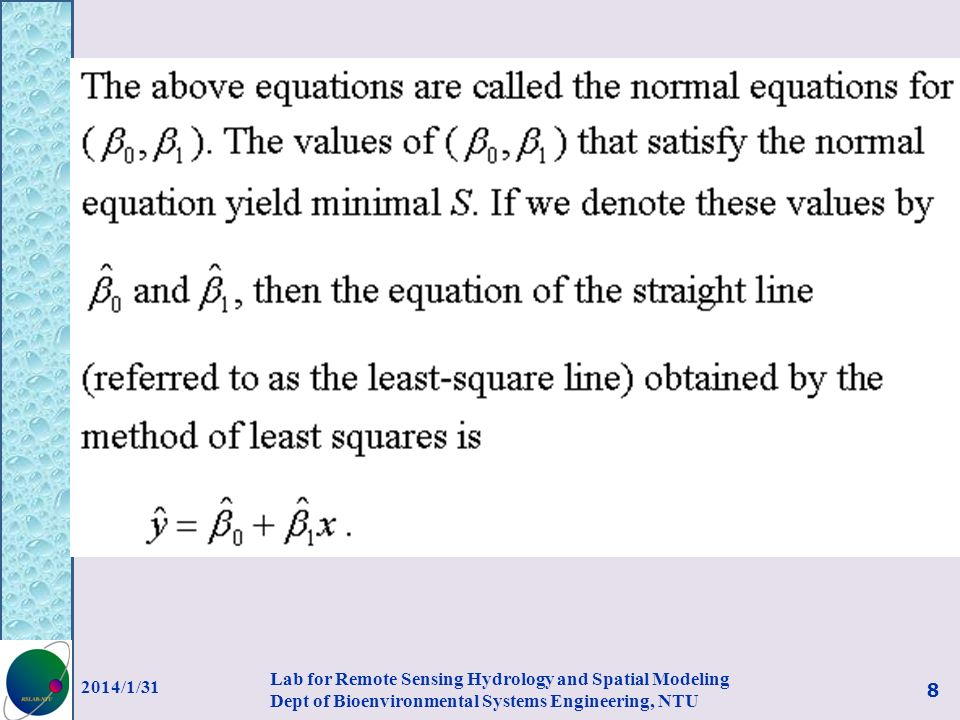 Now let s consider fitting a linear function of several variables.