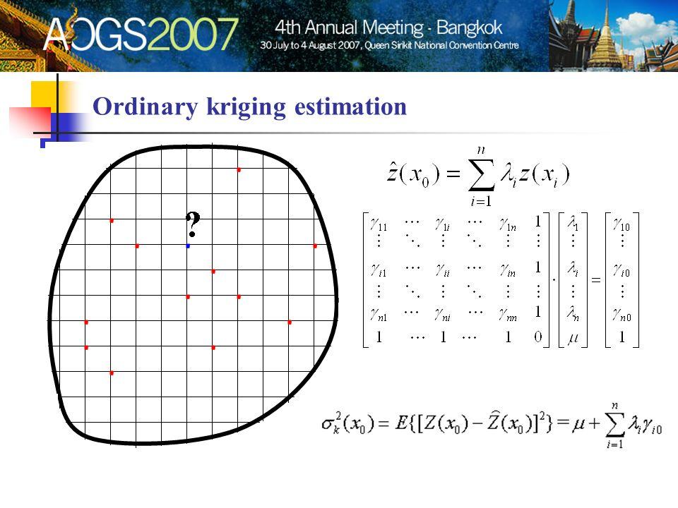 Ordinary kriging estimation