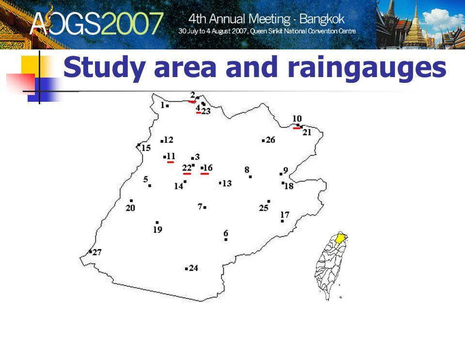 Study area and raingauges