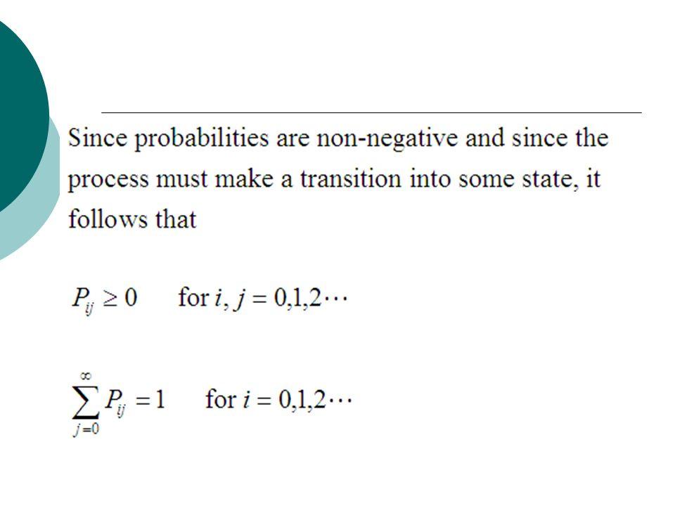 Chapman- Kolmogorov equations