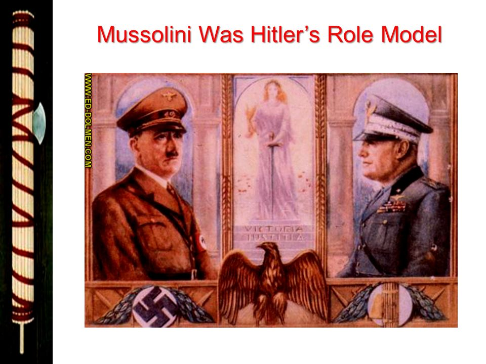 Mussolini Was Hitlers Role Model