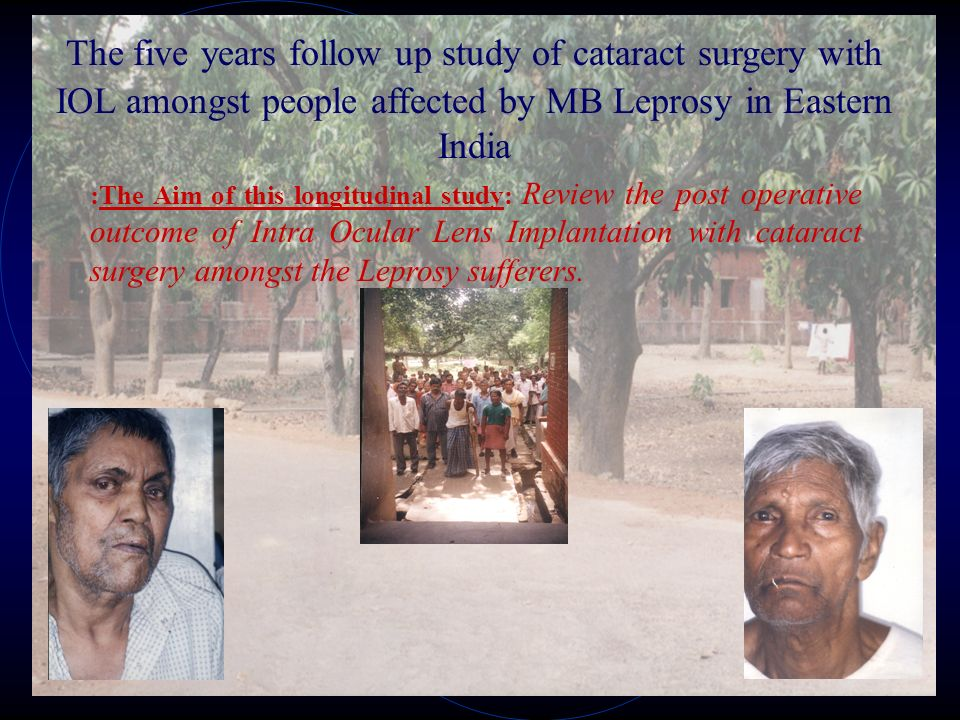 Study Group TotalMaleFemaleNo.of Eyes Type of Leprosy Age Group =>40 Yrs.