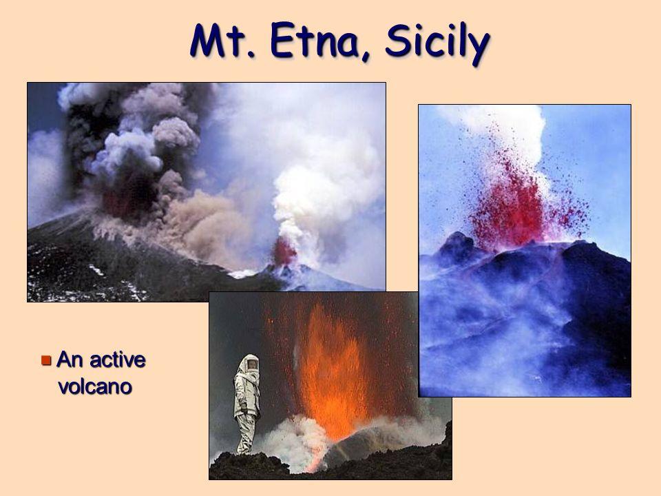 Mt. Etna, Sicily e An active volcano