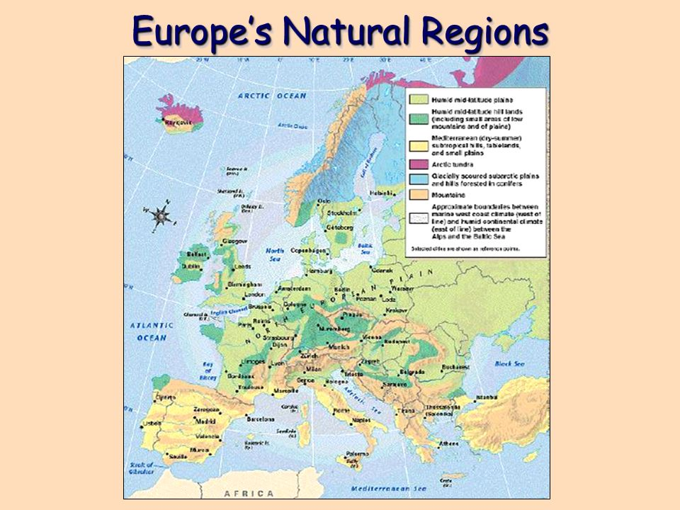 Europes Natural Regions