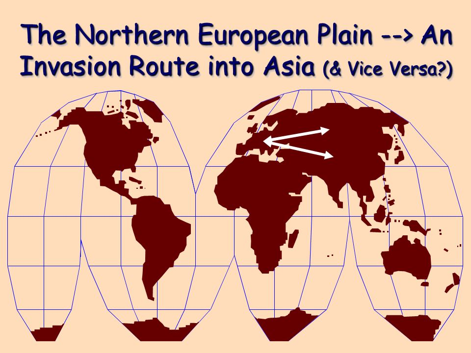 The Northern European Plain --> An Invasion Route into Asia (& Vice Versa?)