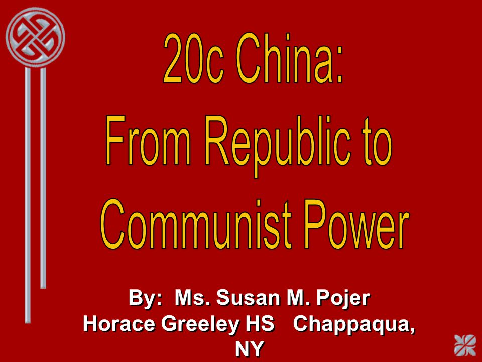 Communist China Under Mao Industrialized China Increased literacy Class privileges ended Rural Chinese received health care One-party dictatorship Denied people basic rights and freedoms --> Inner Mongolia, Tibet