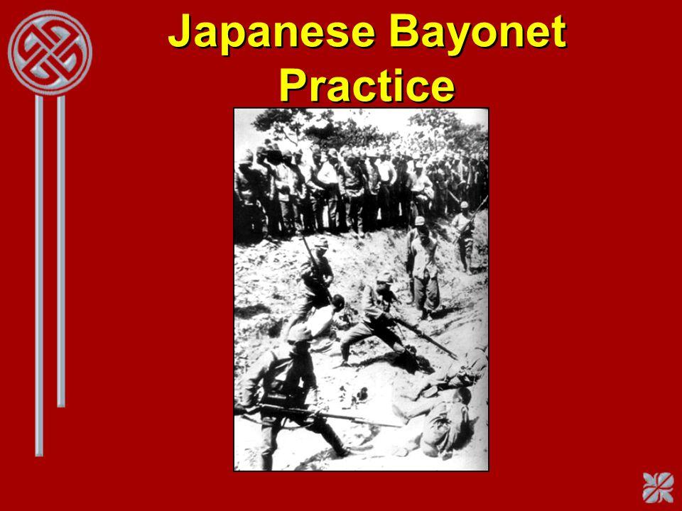 Japanese Bayonet Practice