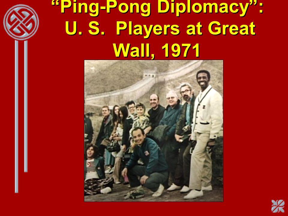 Ping-Pong Diplomacy: U. S. Players at Great Wall, 1971