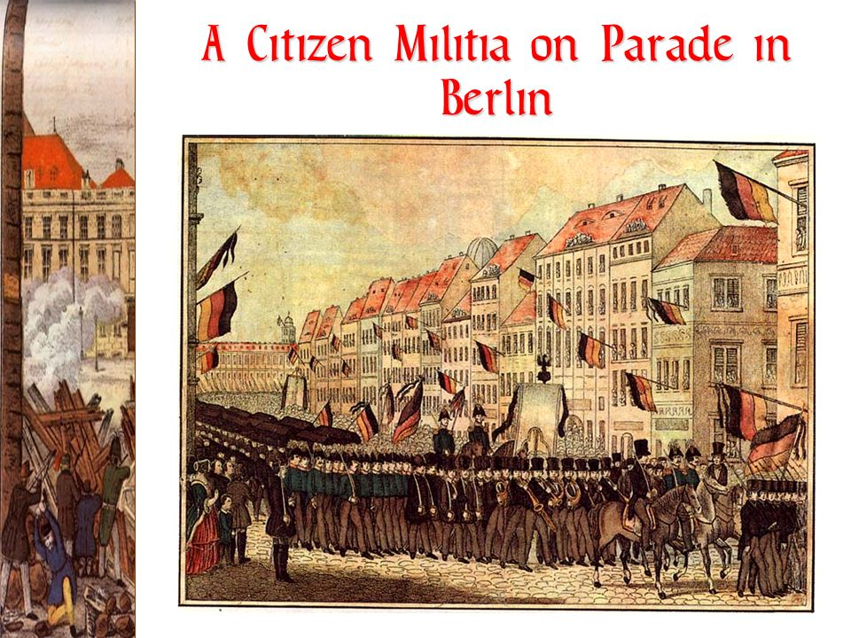A Citizen Militia on Parade in Berlin