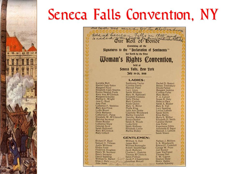 Seneca Falls Convention, NY