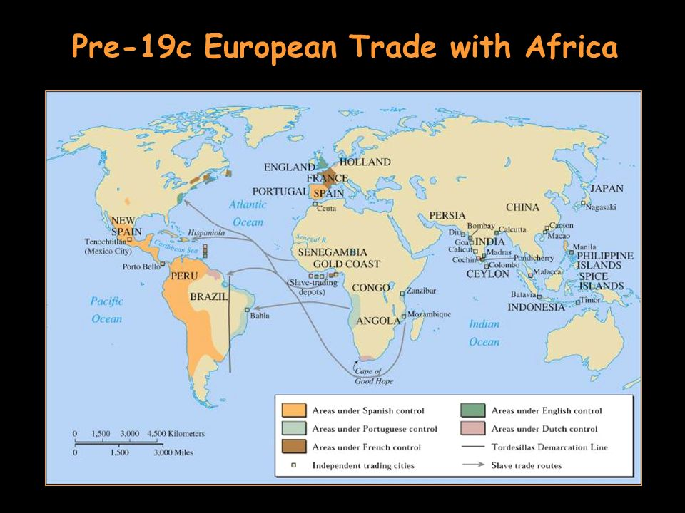 Pre-19c European Trade with Africa