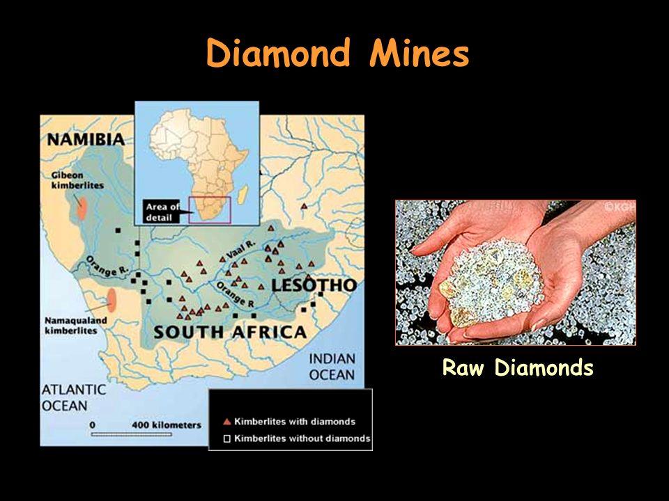 Diamond Mines Raw Diamonds