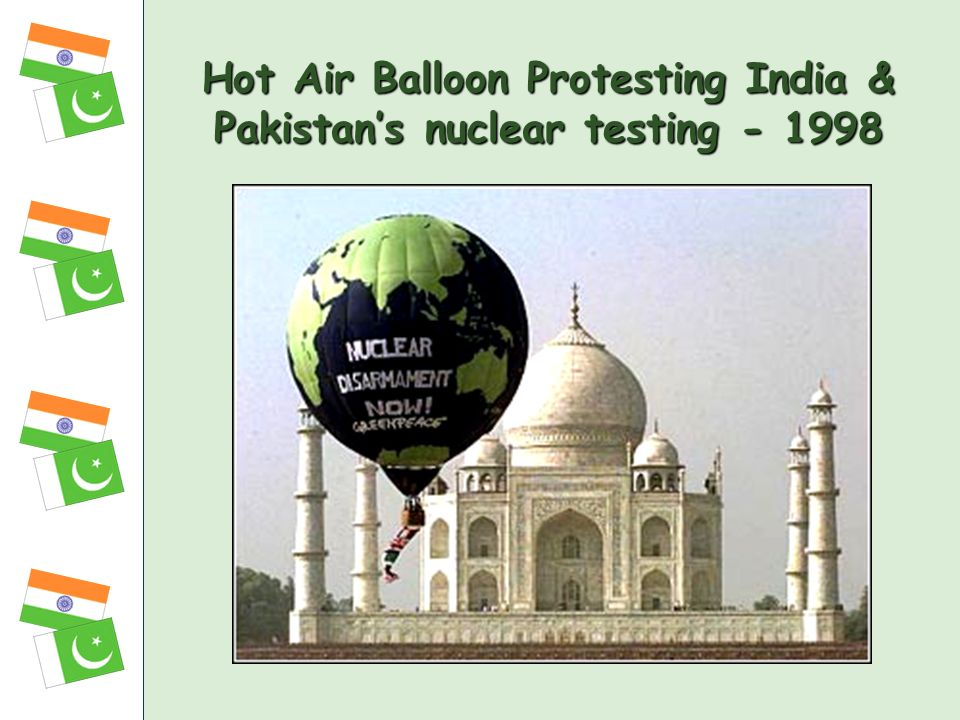 Hot Air Balloon Protesting India & Pakistans nuclear testing - 1998