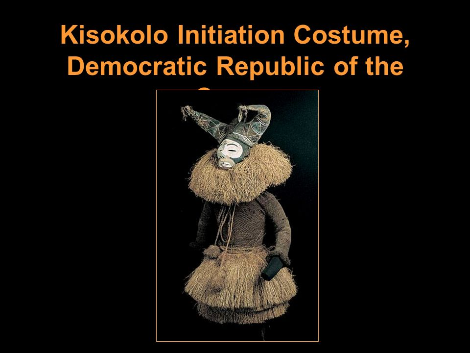 Kisokolo Initiation Costume, Democratic Republic of the Congo