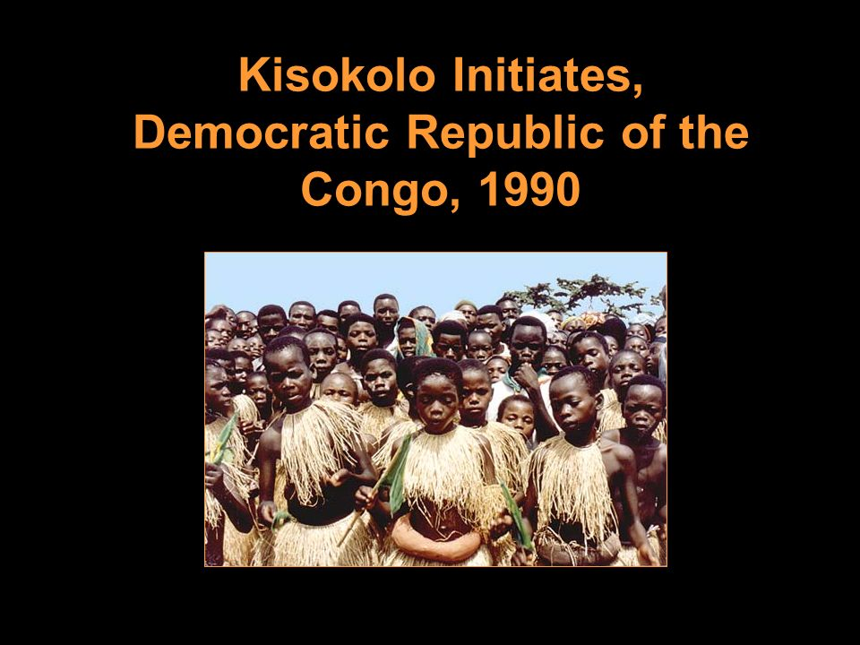 Kisokolo Initiates, Democratic Republic of the Congo, 1990
