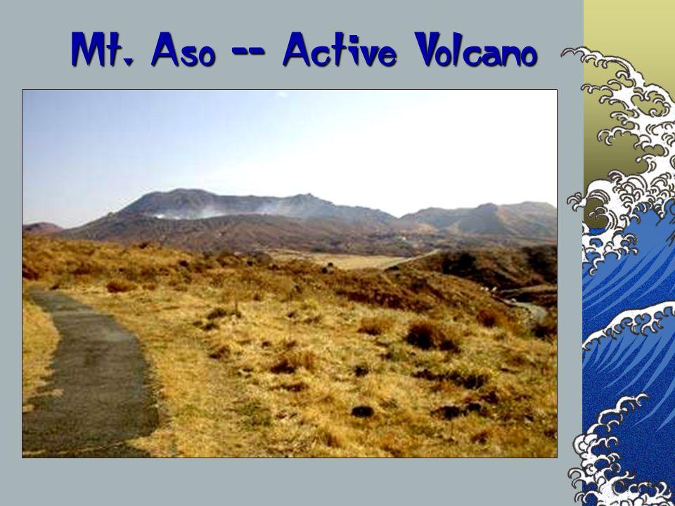 Mt. Aso -- Active Volcano