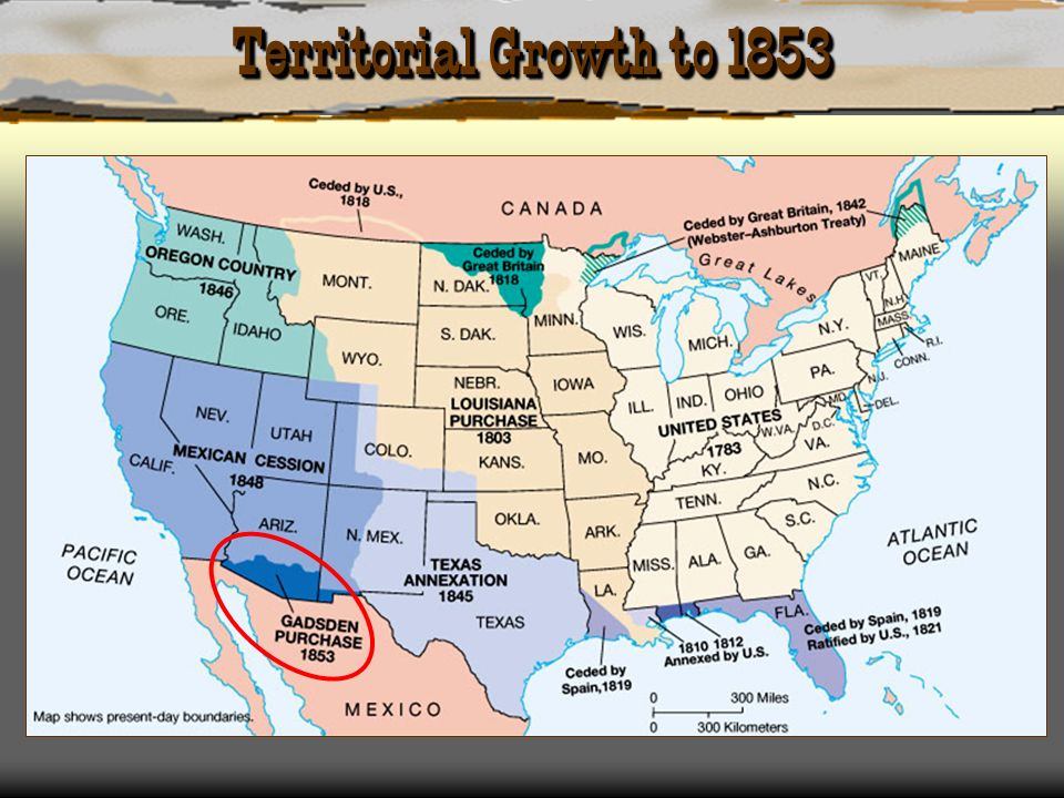 Territorial Growth to 1853