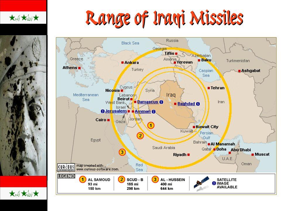 Range of Iraqi Missiles