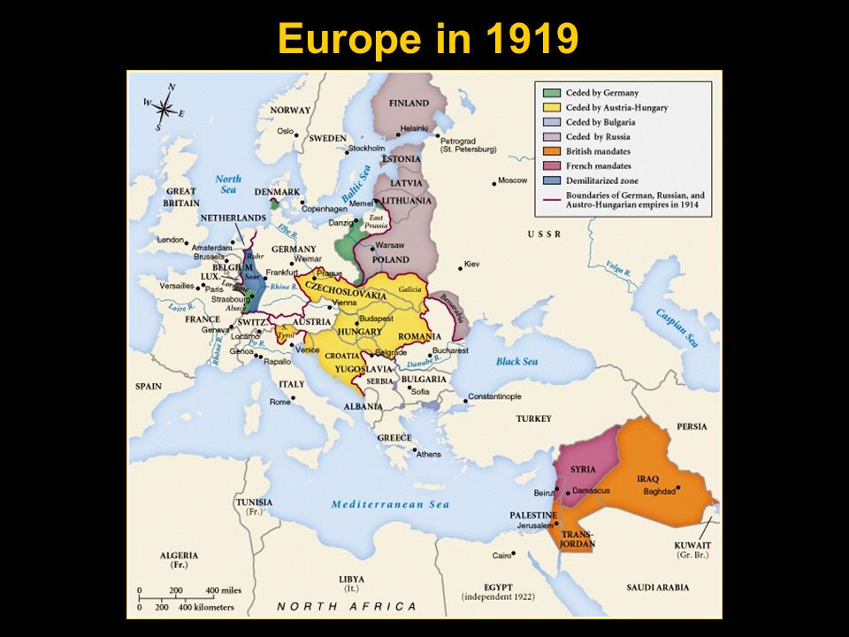 Gustave Stresemann (Ger.) Aristide Briand (Fr.) Austin Chamberlain (Br.) Guaranteed the common boundaries of Belgium, France, and Germany as specified in the Treaty of Versailles of 1919.