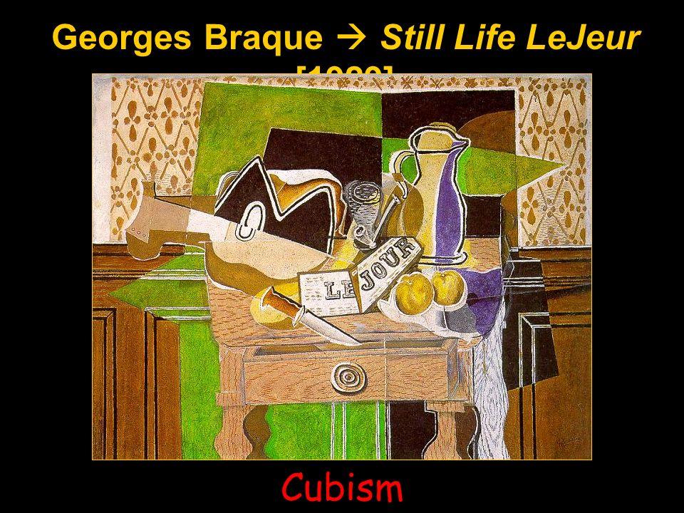 Georges Braque Still Life LeJeur [1929] Cubism