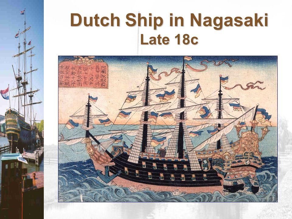 Dutch Ship in Nagasaki Late 18c