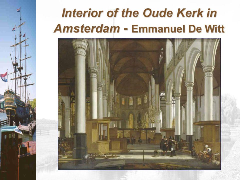 Interior of the Oude Kerk in Amsterdam - Emmanuel De Witt