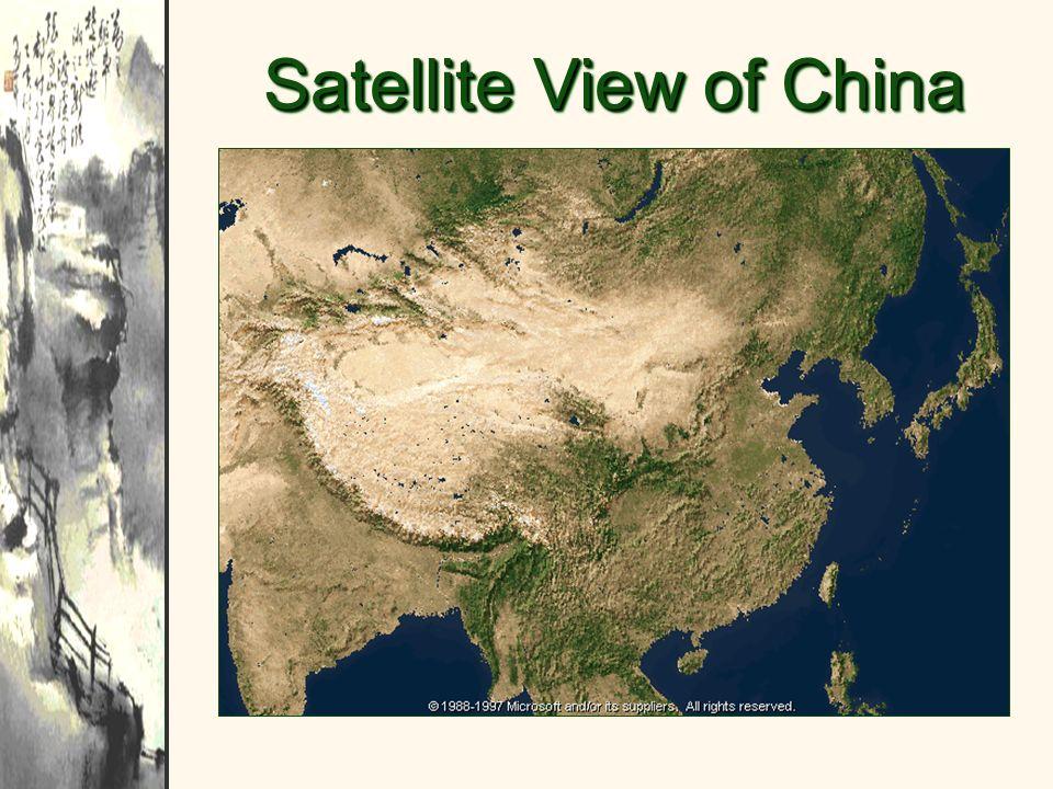 Satellite View of China
