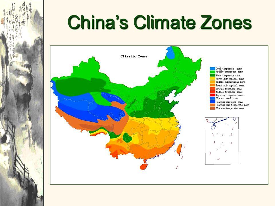 Chinas Climate Zones
